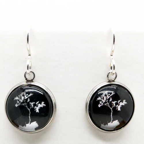 Myrtle & Me Drop Earrings - Myrtle Tree Black