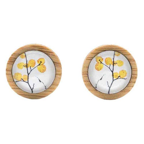 Myrtle & Me Stud Earrings - Deciduous Beech