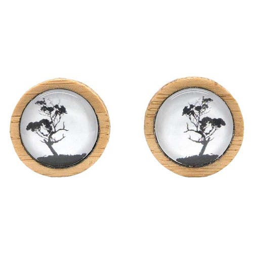 Myrtle & Me Stud Earrings - Gum Tree