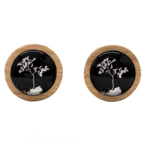 Myrtle & Me Stud Earrings - Myrtle Tree Black