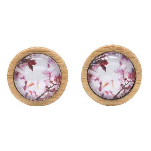 Myrtle & Me Stud Earrings - Pink Spring Blossom