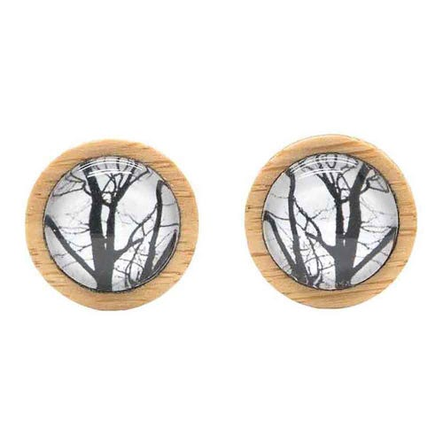 Myrtle & Me Stud Earrings - Winter Trees