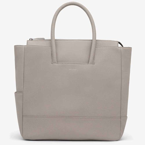 Matt & Nat Percio Nappy Bag - Cement