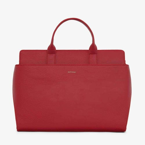 Matt & Nat Gloria Satchel Bag - Red