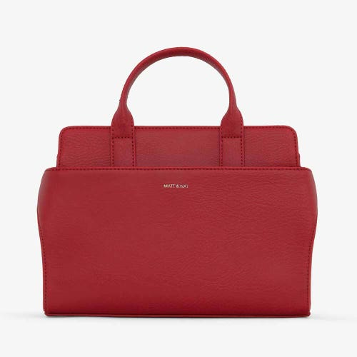 Matt & Nat Gloria Small Satchel Bag - Red
