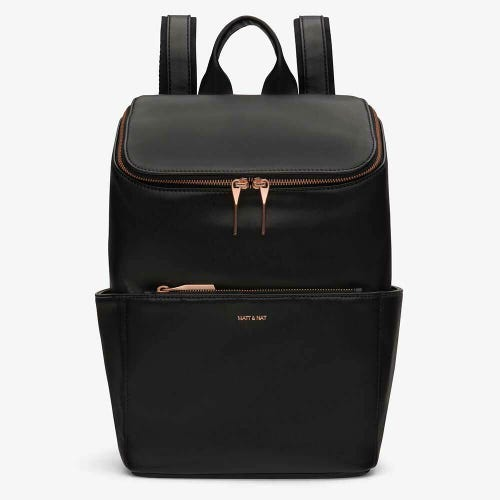 Matt & Nat Brave Backpack - Black Rose Gold