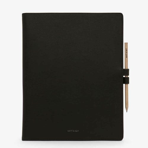 Matt & Nat Magistral Large Notepad - Black