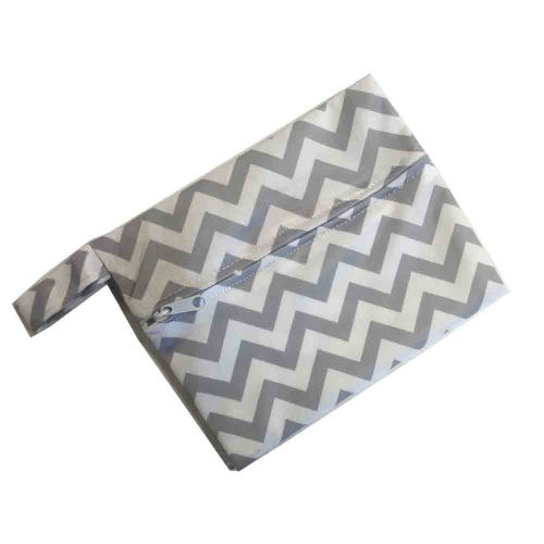 Mini Waterproof Reusable Wet Bag - Grey Stripe