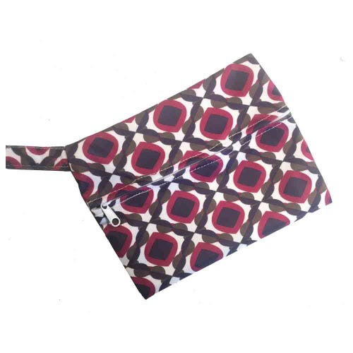Mini Waterproof Reusable Wet Bag - Purple Pattern
