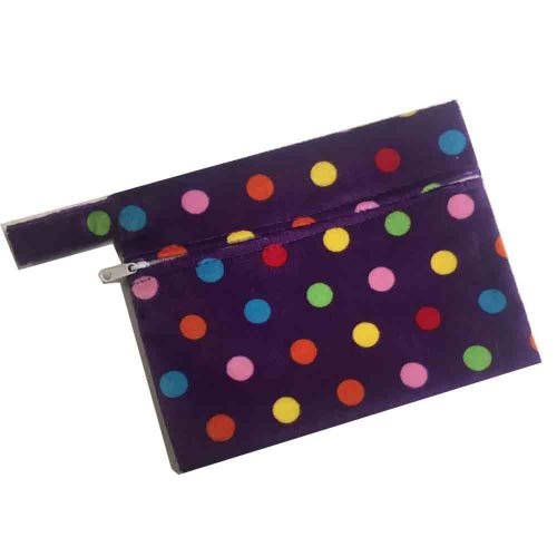 Mini Waterproof Reusable Wet Bag - Purple Spot