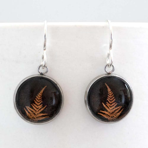 Myrtle & Me Drop Earrings - Fern