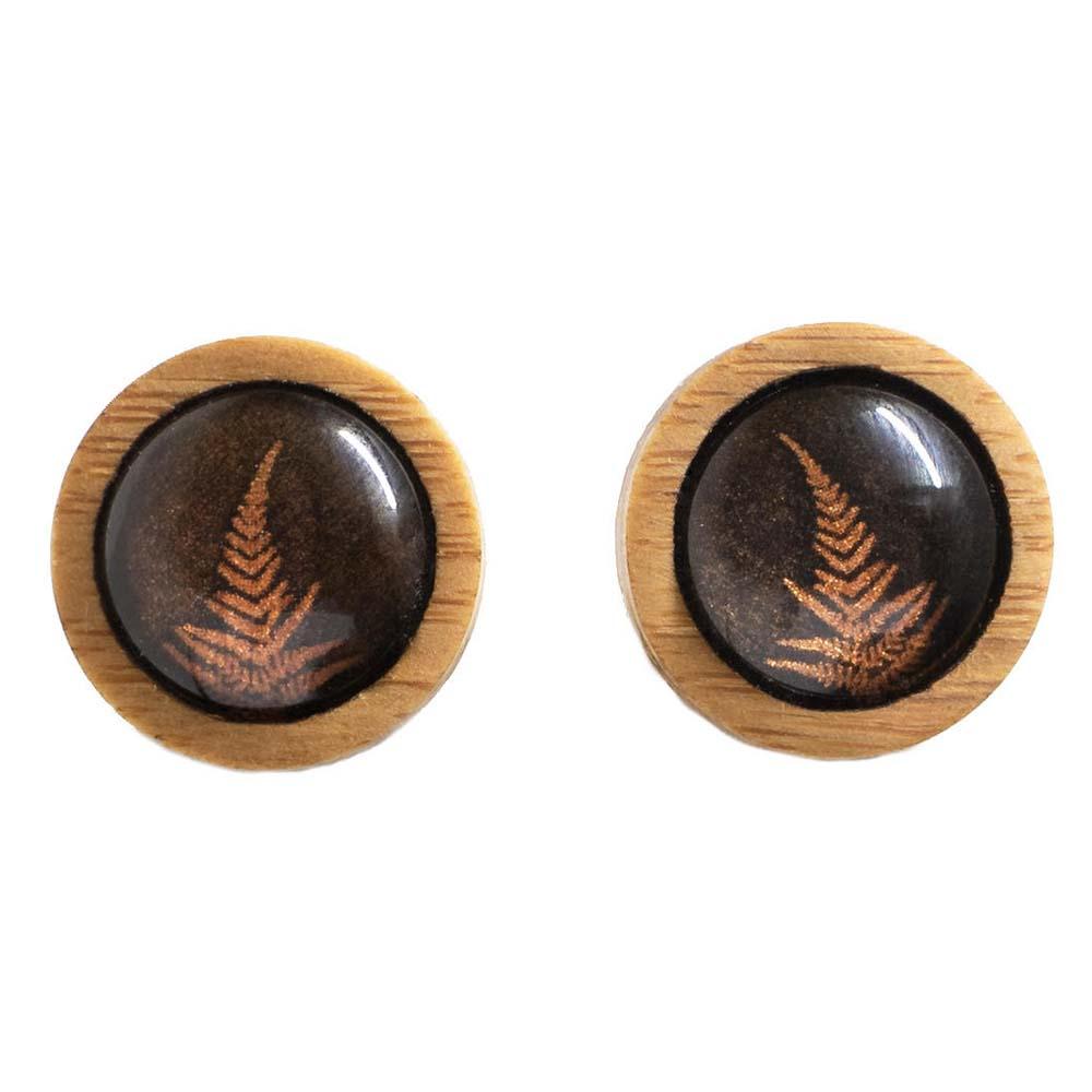 Myrtle & Me Ethical Bamboo Earrings - Fern
