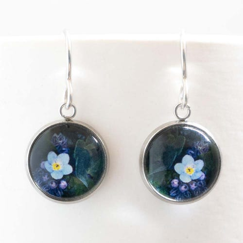 Myrtle & Me Drop Earrings - Forget Me Not