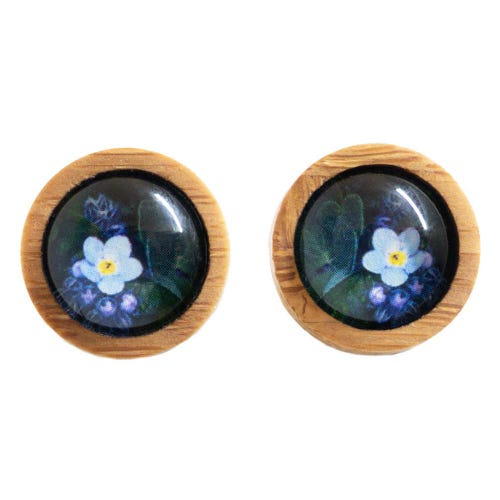 Myrtle & Me Ethical Bamboo Earrings - Forget Me Not