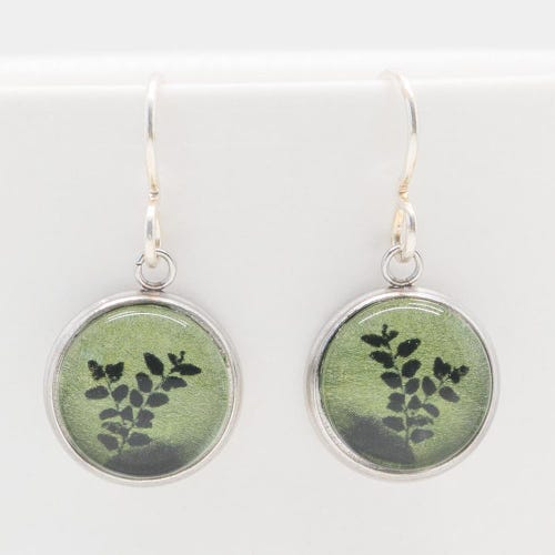Myrtle & Me Drop Earrings - Myrtle Leaves