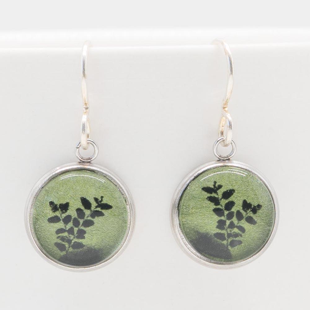 Myrtle & Me Drop Earrings - Myrtle Leaves