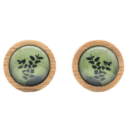 Myrtle & Me Ethical Bamboo Earrings - Myrtle Leaves
