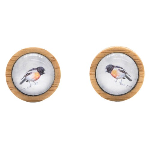 Myrtle & Me Ethical Bamboo Earrings - Scarlet Robin