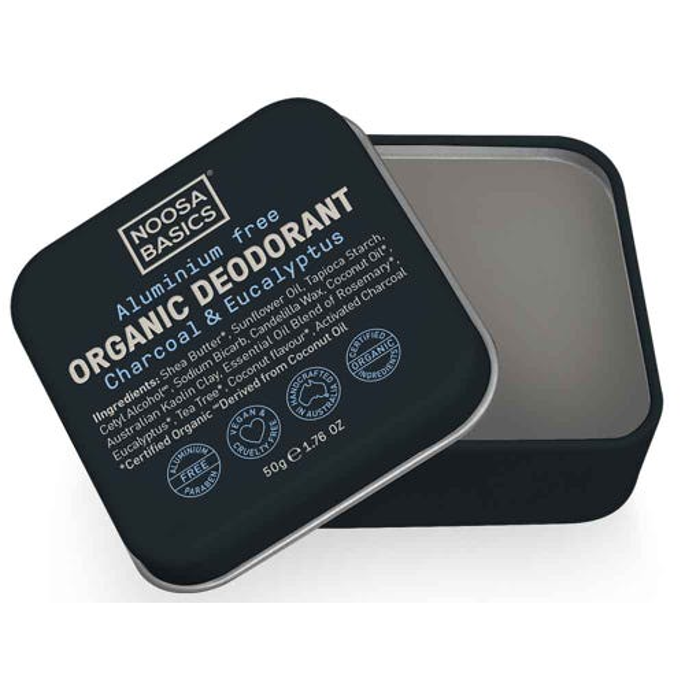 Noosa Basics Deodorant Paste - Charcoal & Eucalyptus (50g)