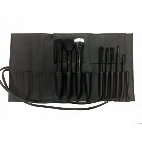 Inika Vegan Make Up Brush Roll - 8 Pieces