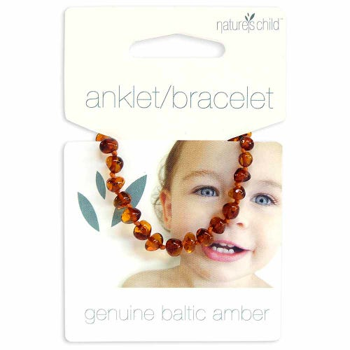 Nature's Child Amber Bracelet Babies - Cognac