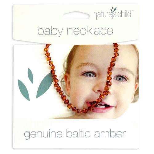 Nature's Child Amber Necklace Babies - Cognac