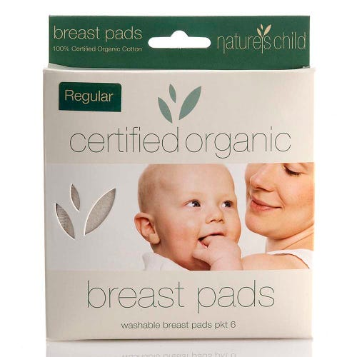 Nature's Child Reusable Breast Pads Regular 6 Pack