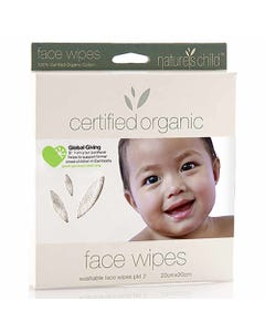 Nature's Child Reusable Face Wipes 2 Pack