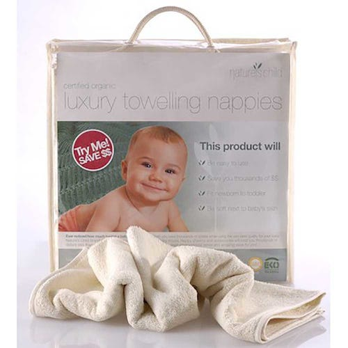 Nature's Child Reusable Cloth Nappies 6 Pack