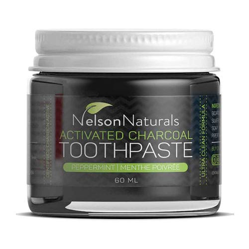 Nelson Naturals Toothpaste Activated Charcoal (60ml)