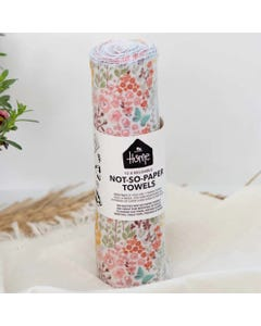 No Nasties Home Reusable Not-So-Paper Towels - Blush Florals (12 Pack)