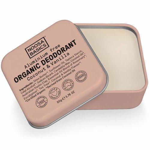 Noosa Basics Deodorant Paste - Coconut & Vanilla (50g)
