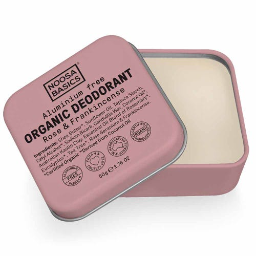 Noosa Basics Deodorant Paste - Rose & Frankincense (50g)