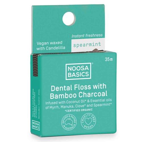 Noosa Basics Dental Floss with Activated Charcoal (35m)