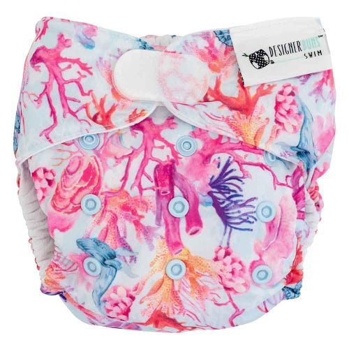 Designer Bums Reusable Swim Nappy Velcro - Noosa