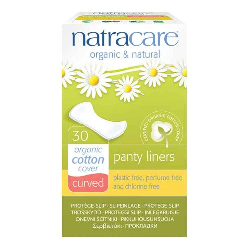 Natracare Organic Panty Liners - Curved (30 pack)