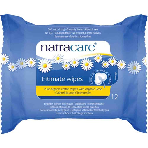 Natracare Intimate Wipes x 12
