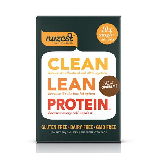 Nuzest Clean Lean Protein Box - Rich Chocolate (10 Single Sachets)