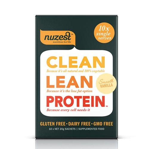 Nuzest Clean Lean Protein Box - Smooth Vanilla (10 Single Sachets)