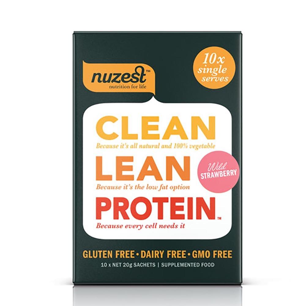 Nuzest Clean Lean Protein Box - Wild Strawberry (10 Single Sachets)