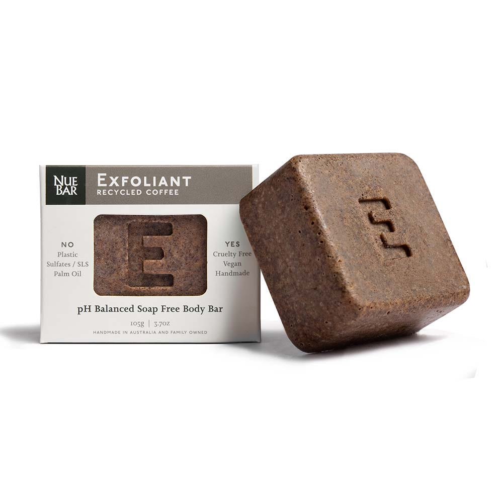 nuebar coffee exfoliant bar