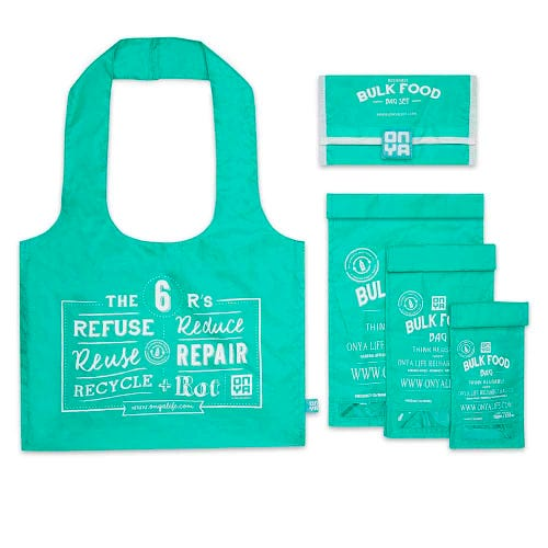 Onya Reusable Bulk Food Bag Starter Set - Aqua