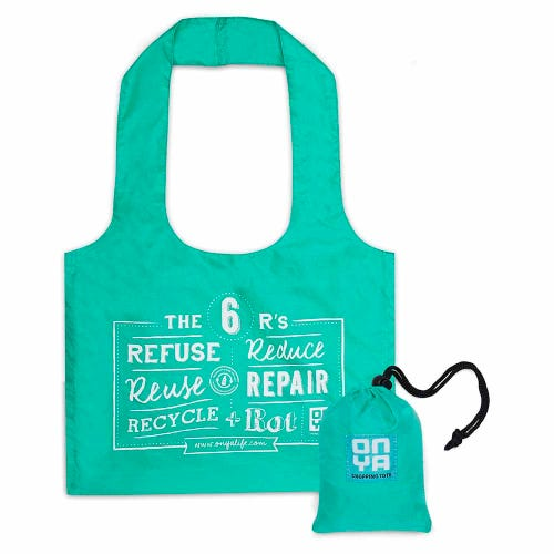 Onya Reusable Shopping Tote Bag - Aqua