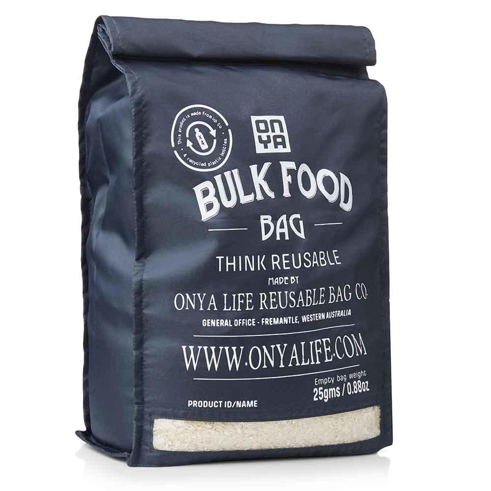 Onya Reusable Bulk Food Bag Large - Charcoal