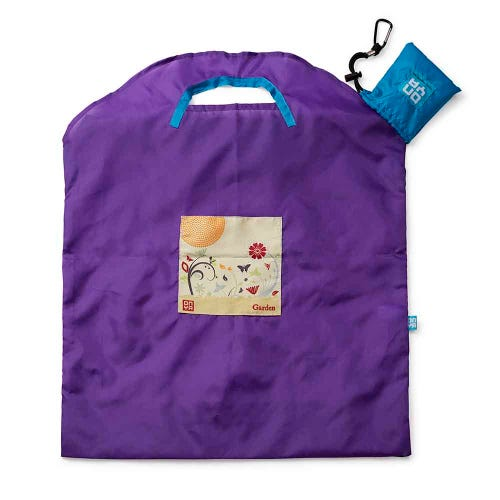 Onya Shopping Bag Large - Purple Garden