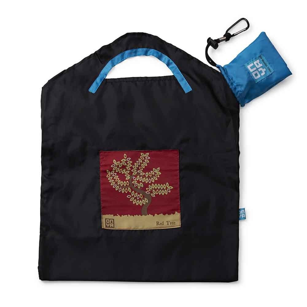 Onya Shopping Bag Small - Black Red Tree