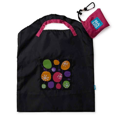 Onya Shopping Bag Small - Black Retro