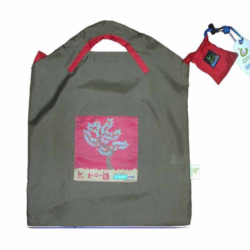 Onya Shopping Bag Small - Olive Red Tree