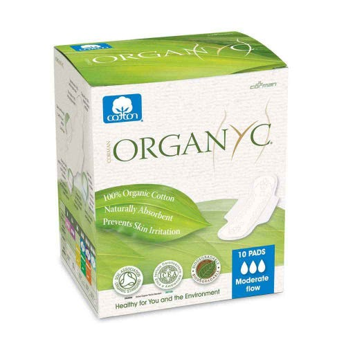 Organyc Ultra Thin Pads - Moderate (10)