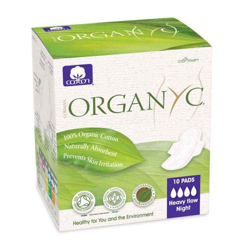 Organyc Ultra Thin Pads - Heavy Flow (10)